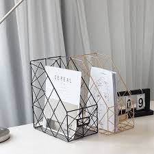 Simple Metal <b>File Storage Rack</b> Office Supplies Display <b>Rack</b> ...