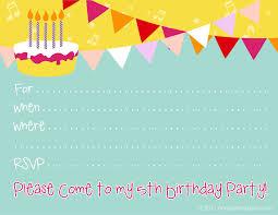 Birthday Invites: Birthday Party Invitation Templates Free ... ... Birthday Party Invitation Templates Printable Free Girls Simple Design 5th Celebrate Kid Children Boys Or Girls ...