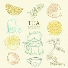 Чайная коллекция | Премиум векторы