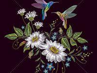 Embroidery: лучшие изображения (31) | Вышивка, Дамасский ...