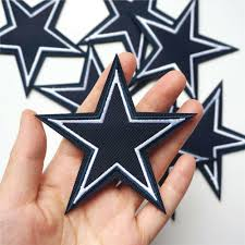 <b>10pcs</b> 9cm Embroidered Sew Blue <b>Star Applique</b> Clothing Iron On ...