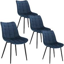 WOLTU <b>Dining Chairs</b> Set of <b>4 pcs</b> Kitchen Counter Chairs Lounge ...