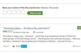 Row erupts over      racist      TripAdvisor review of Ealing pub which     Evening Standard review jpg