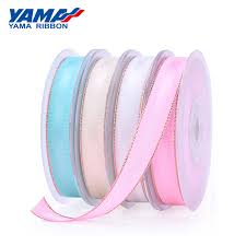 <b>YAMA</b> Polyester Rose Gold <b>Grosgrain Edge</b> Satin <b>Ribbon</b> 26673