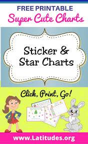 printable sticker star charts for kids acn latitudes sticker star charts