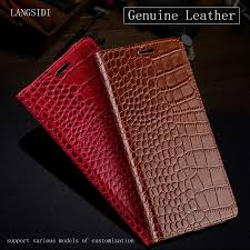 Luxury <b>Genuine Leather flip</b> Case For Xiaomi Redmi 5 Plus case ...