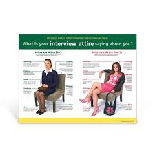 educational classroom poster interview attire poster interview attire poster
