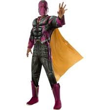 Marvel <b>Men's</b> Vision Muscle Chest <b>Deluxe Halloween</b> Costume XL ...