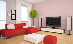 wonderful small living room design showing red leather couch with metal base includes white pillows also awesome chic living room ideas