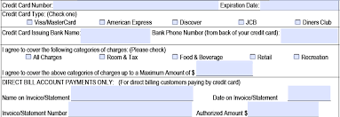hilton credit card authorization form template pdf hilton credit card authorization form part 2 credit