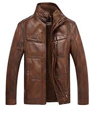 DSANTECH Men's Designing <b>Genuine Leather</b> Jacket (<b>Plus Size</b>)