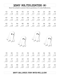Scary Multiplication (2-Digit by 1-Digit) (A) Halloween Math WorksheetThe Scary Multiplication (2-Digit by 1-Digit) (A) Halloween. Full Preview