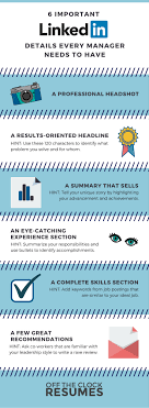 important linkedin details every manager needs to have infographic 6 important linkedin details every manager needs to have infographic off the clock resumes