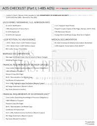 how to prepare your aos package forms requirements and checklist aos checklist part i i 485 adjustment of status application adjustment of status from a k1 visa ©2014 life as mrs presson mrspresson com