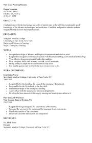 new grad nursing resume sample new grad nursing resume
