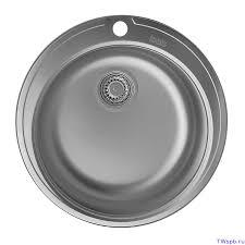 Круглая врезная металлическая <b>кухонная</b> мойка Ø510 мм, <b>IDDIS</b> ...