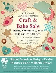 events calendar from the acc senior services center 27th annual acc craft bake