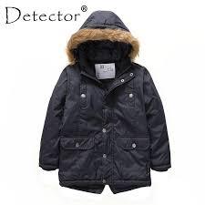 2019 <b>Detector Boys</b>' <b>Parka Jackets</b> Hooded Warmly Children Cotton ...