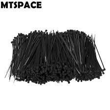 <b>1000pcs</b>/Set 100mm <b>X 3mm</b> Self-Locking Black Nylon Wire Cable ...