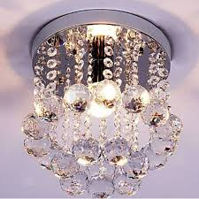 mini style 1 light flush mount crystal chandelier bedroom chandelier lighting