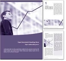royalty  financial growth microsoft word template in purple financial growth word template document