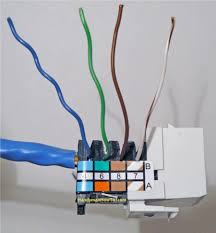 how to install an ethernet jack for a home network cat5e