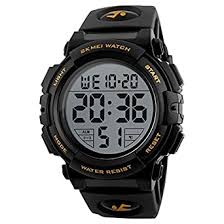 Buy SKMEI Digital Black Dial <b>Men's Watch</b>-1258 Gold Online at Low ...