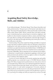 acquiring road safety knowledge skills and abilities page 57