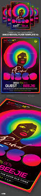 discos flyer template and templates disco revival flyer template v2