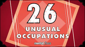 a series of unusual occupations