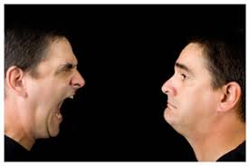 Image result for images of man shouting at another person