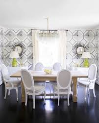 oval dining table art deco: view full size sally wheat chic dining room features art deco