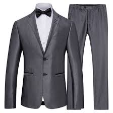 S <b>4XL</b> New <b>Men's</b> Grey Business <b>Suits Men</b> Casual Groom ...