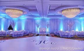 diy lighting and reception image blue wedding uplighting
