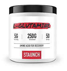 Staunch <b>L</b>-<b>Glutamine Powder</b> 250 Grams, 50 Servings <b>High Quality</b> ...