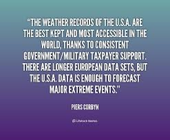 The weather records of the U.S.A. are the best kept and most ...