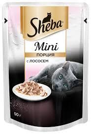 <b>Корм для кошек Sheba</b> Mini с лососем 50 г (мини-филе) — купить ...