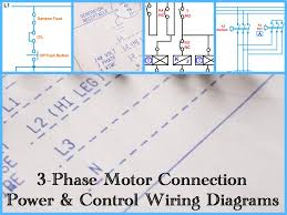 three phase motor power  amp  control wiring diagrams