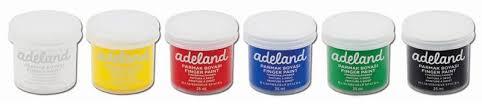 Краски для рисования пальцами <b>Adel Adeland</b> 6цв. 234-0620-100 ...