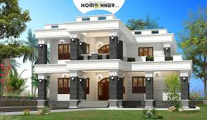 Modern spacious box house design in sq ft   Indian Home    About the Home Design
