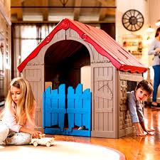 <b>Keter Foldable</b> Playhouse <b>Игровой Дом</b> складной бежевый-красный
