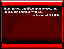 Image result for the flying scroll zechariah