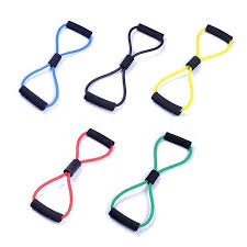 Online Shop <b>8 Word</b> Type <b>Resistance Band</b> Chest Fitness Yoga Pull ...