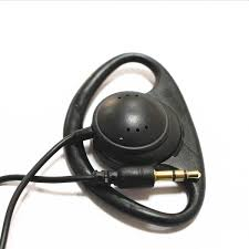 100 Pack Black <b>Stereo Hook</b> Earphone <b>1 Bud</b> Earpiece <b>Headphones</b>