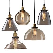 GZMJ Vintage <b>Glass Pendant Lamps</b> Repo LED Lights <b>Shade</b> Home ...