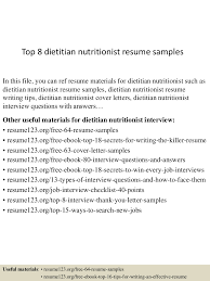 top 8 dietitian nutritionist resume samples nutritionist resume top 8 dietitian nutritionist resume samples nutritionist resume cover letter nutritionist dietitian resume sports nutrition resume dietitian resume cover