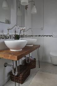 bathroom place vanity contemporary: vessel sink on reclaimed wood vanity industrial chic bathroom vanity with chic ceramica vessel sink