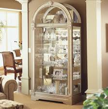 chinese style decor: crystal glass in antique curio cabinet as interior decor living room with lights china hutches crystal glass in antique curio cabinet as interior decor