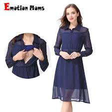 <b>Emotion Moms Long</b> Sleeve Nursing Dress Breastfeeding Dresses ...