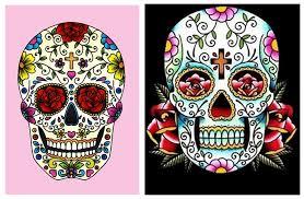 Image result for dia de los muertos sugar skulls design
